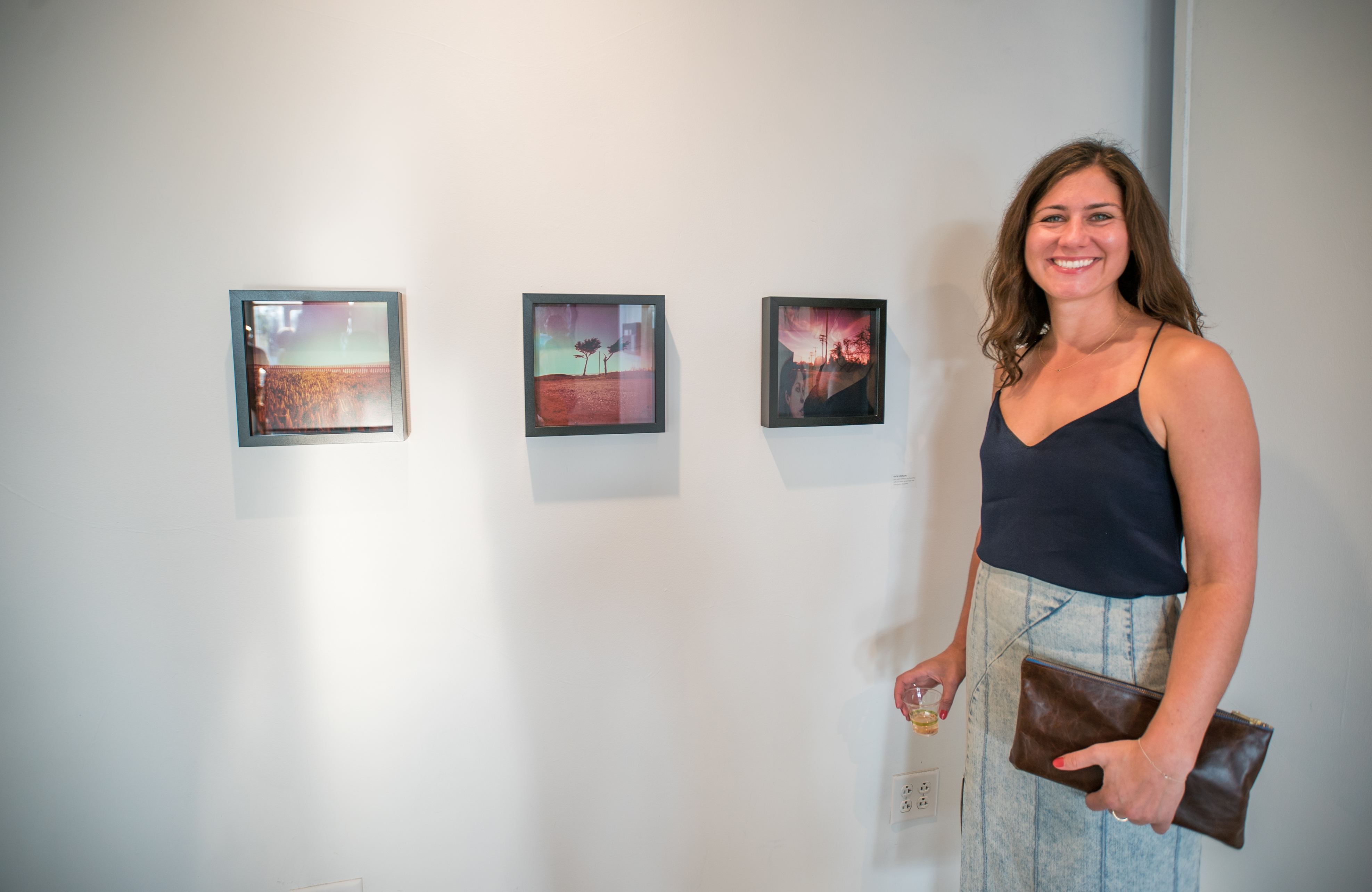 Katie Leonard with her pinhole photographs