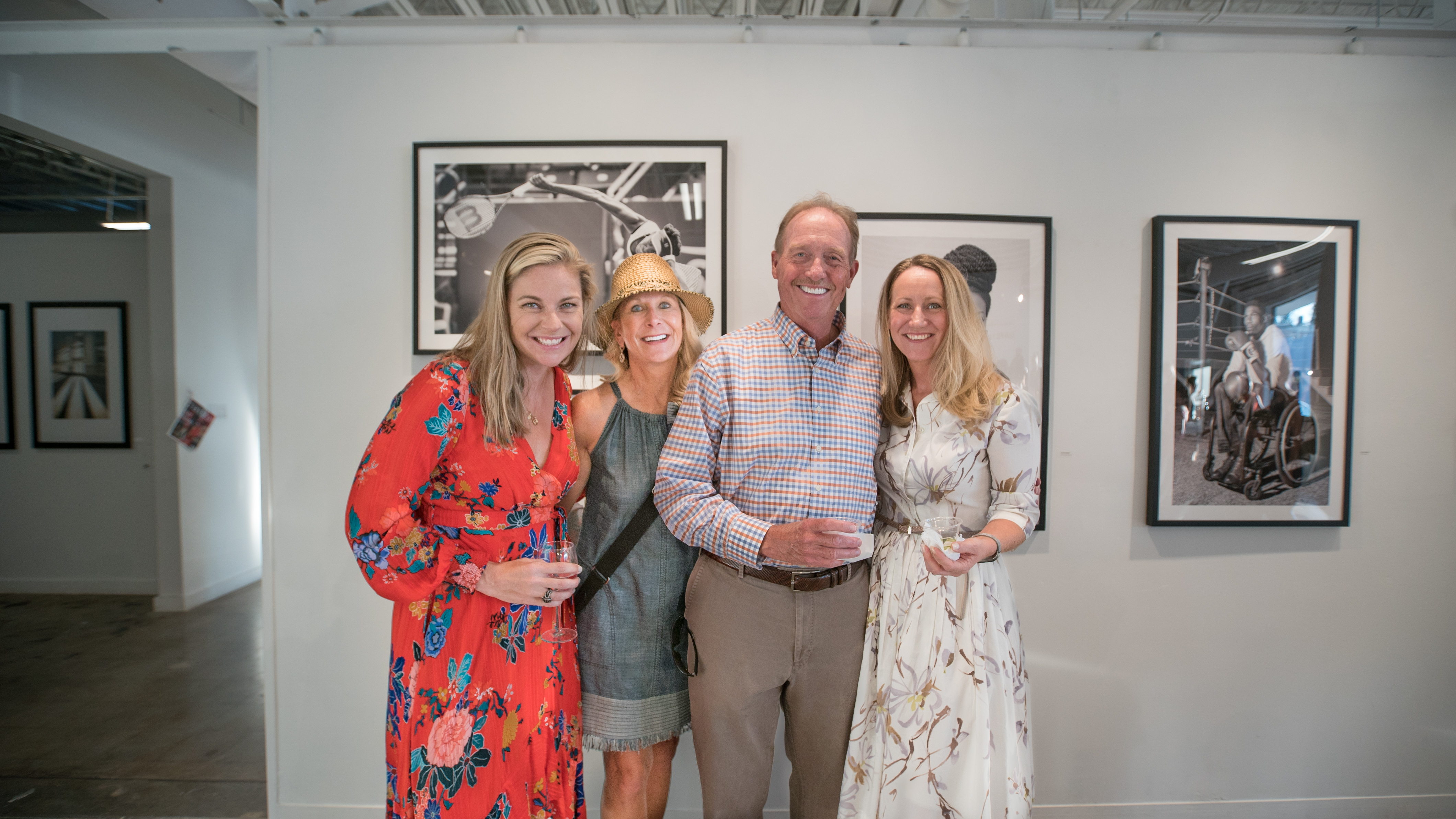 (Left to right) Alice Keeney, Kelly and David Lyle of Three Henry Wines, and Charleston editor-in-chief Darcy Shankland