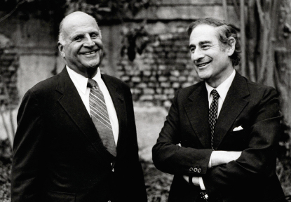 Spoleto Festival USA founder Gian Carlo Menotti (1911-2007), right, pictured with Ted Stern