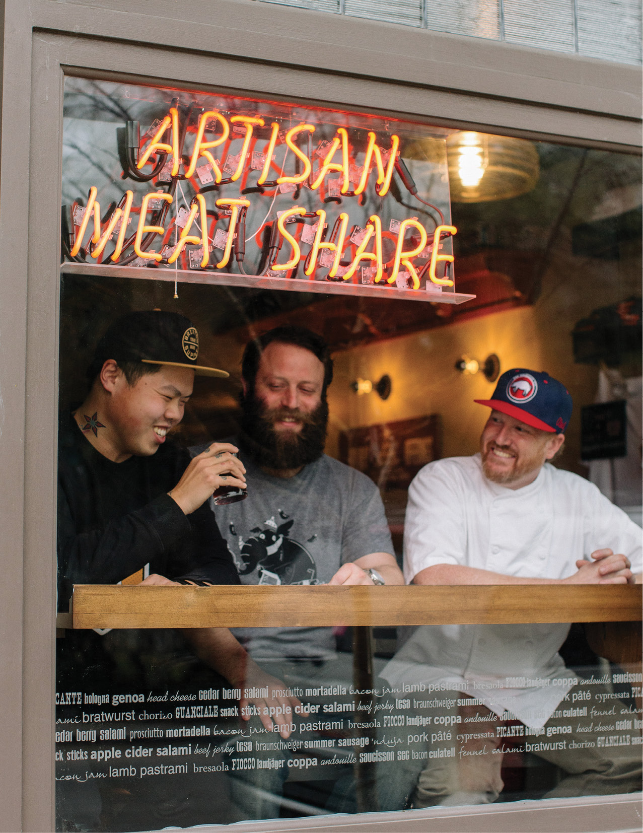 Shuai Wang (left) with AMS meat masterminds Bob Cook and Craig Deihl