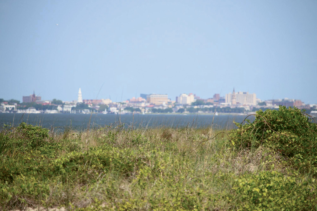 ...to great views of Fort Sumter and downtown Charleston.