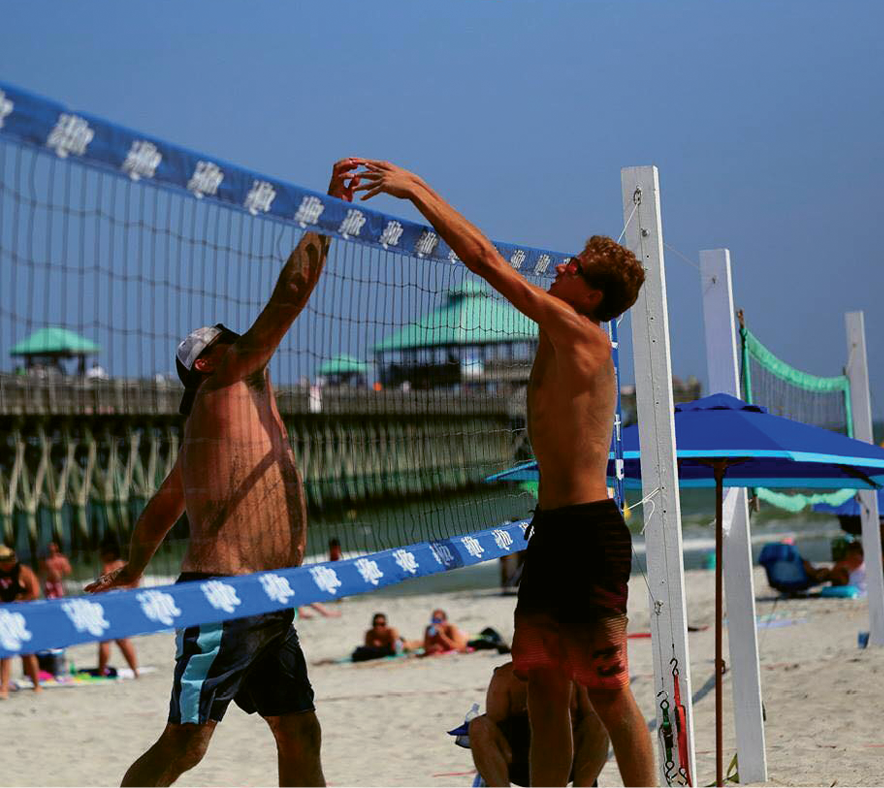 "Folly Beach Volleyball Club hosts Summer Sundays tournaments, including ""King of the Beach"" on June 4 and August 6 and ""Team Doubles"" on July 9."