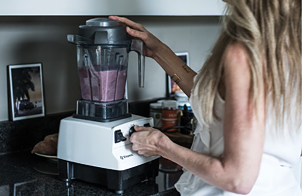 """In the Mix: """"My Vitamix is so much more than a blender for smoothies. I make so many healthy things in it: soups, dressings, fillings—well worth the investment."""""""