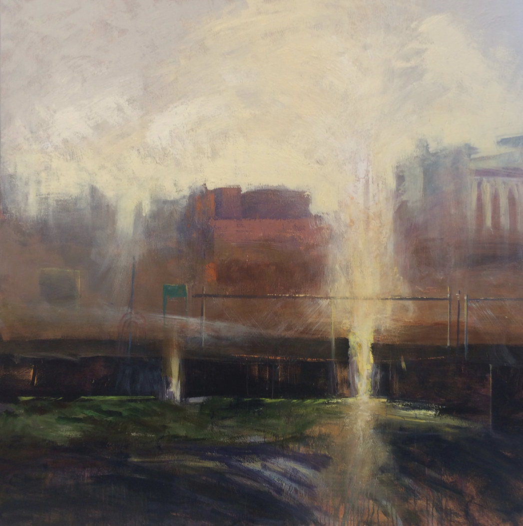 Halation (acrylic on canvas, 60 x 60 inches, 2018)