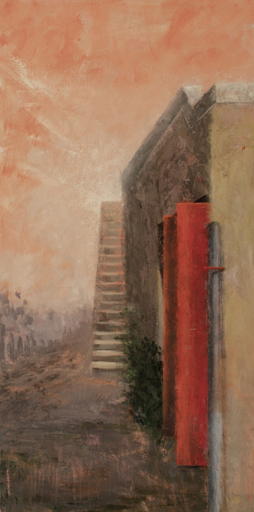 Ascension (acrylic on canvas, 48 x 28 inches, 2019)