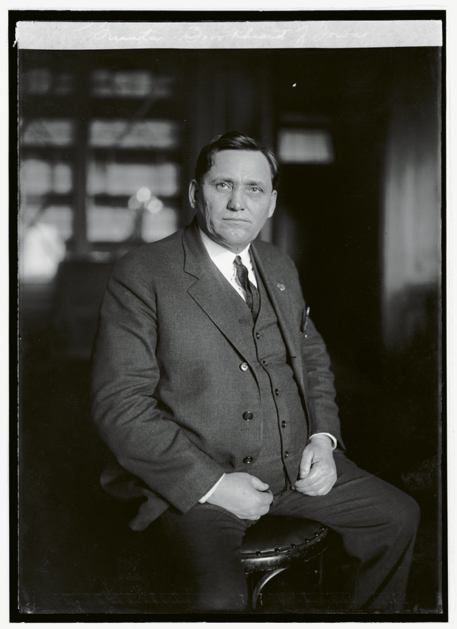 U.S. Senator Smith Wildman Brookhart of Iowa, the namesake of the Brookhart Committee, which investigated discrepancies and corruption revealed in the Hell Hole raids