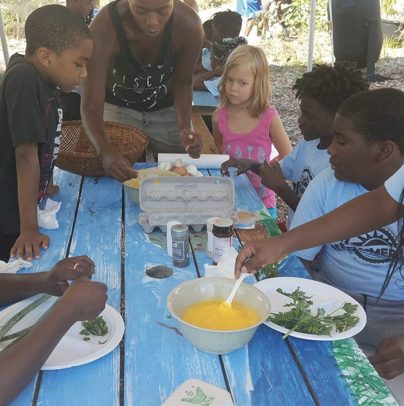 ...and learn about growing and eating healthy foods at day camps.