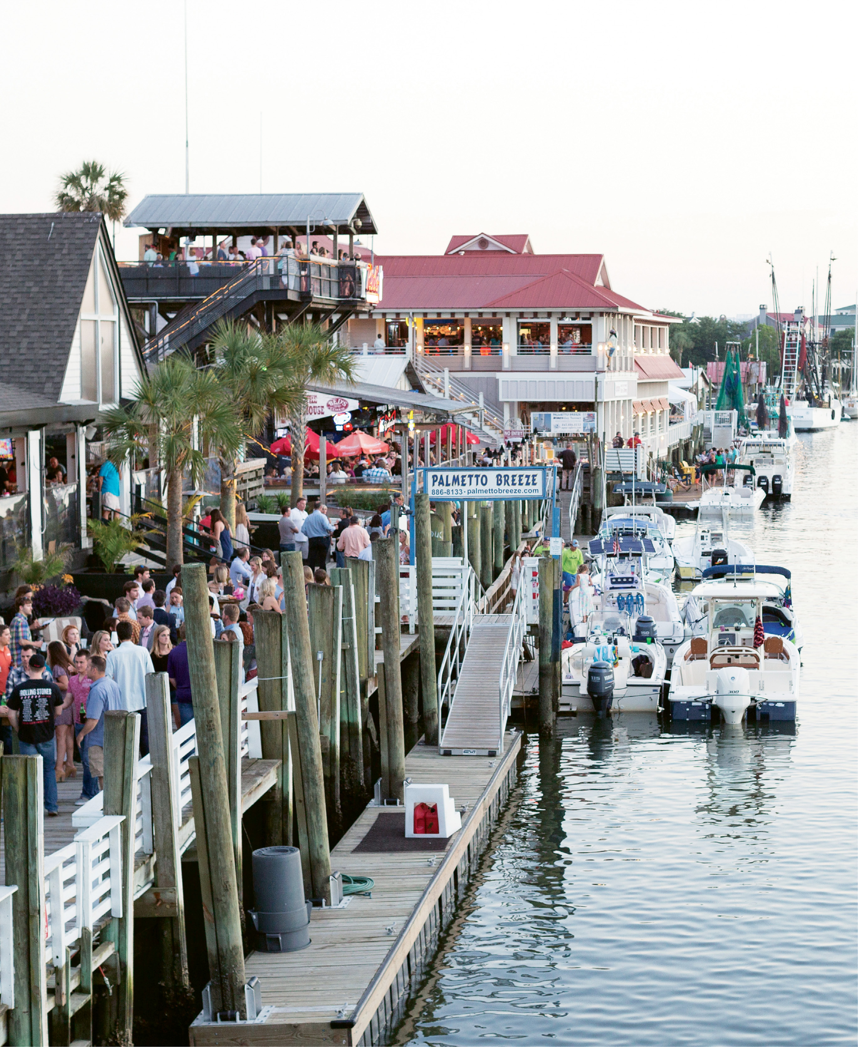 Shem Creek's bustling docks host 4,000 people or more during any given week.