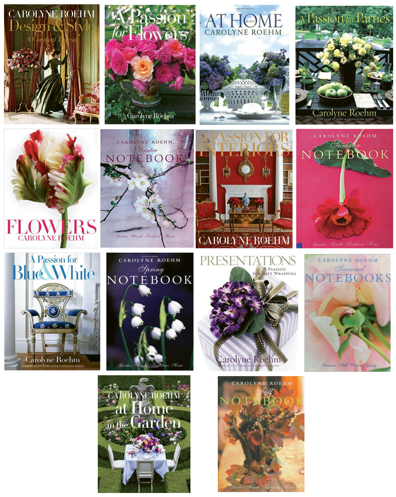 "A New Path: Roehm's first book, A Passion for Flowers (Harper, 1997), ""opened up an entirely different creative path, one I could follow with enthusiasm and that changed my life,"" she writes in Design & Style. Since then, she has authored a dozen tomes of inspired design."