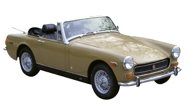 "Classic Wheels - ""I tinker with a 1973 MG Midget, which is an old British model. I'm building it into a hot-rod streetcar."""