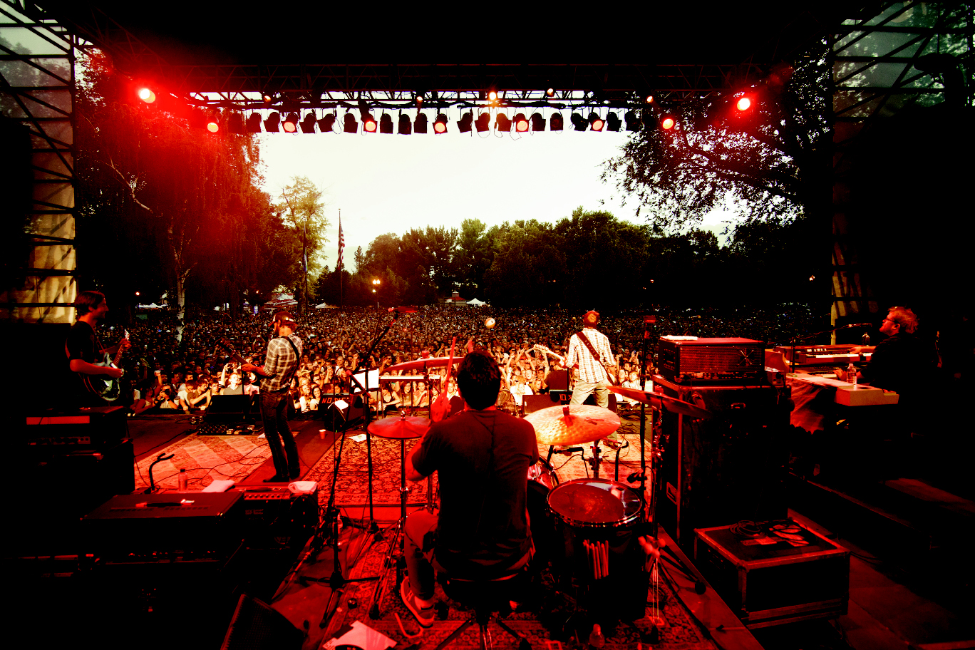 Band of Horses headlining Pioneer Park in Salt Lake City, Utah, last July
