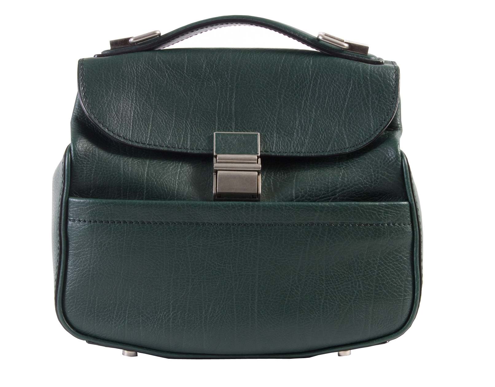 "Proenza Schouler mini leather ""Kent"" bag in dark pine"