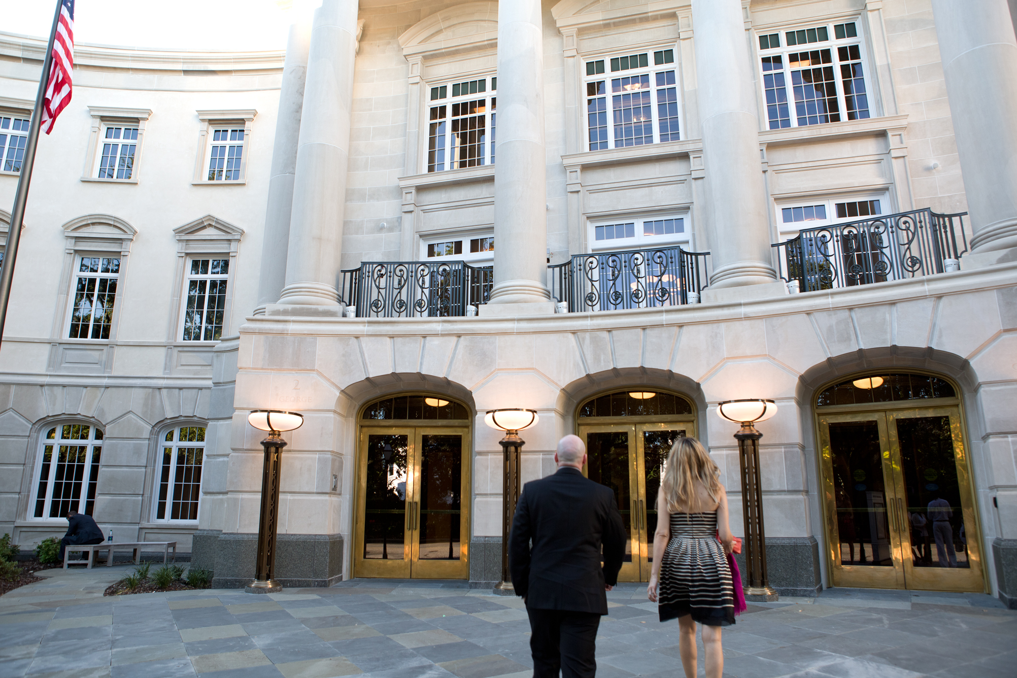 Guests enter the Gaillard Center.