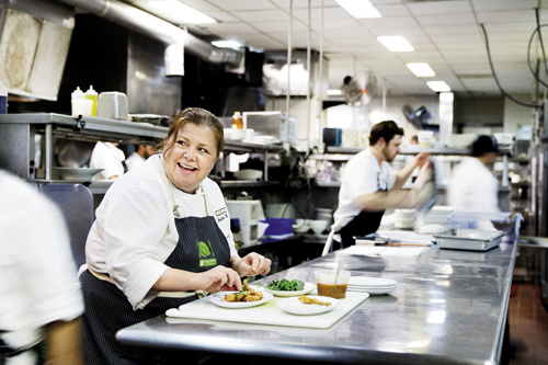 Michelle Weaver has been with the Grill since 1997 and became executive chef in 2010.
