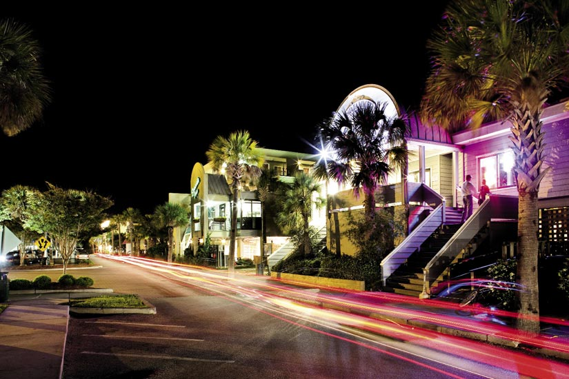 Cruise IOP's Front Beach for great music and drinks, dining at restaurants such as Huck's Lowcountry Table, a little beach trinket shopping, and a scoop or two of Ben and Jerry's.