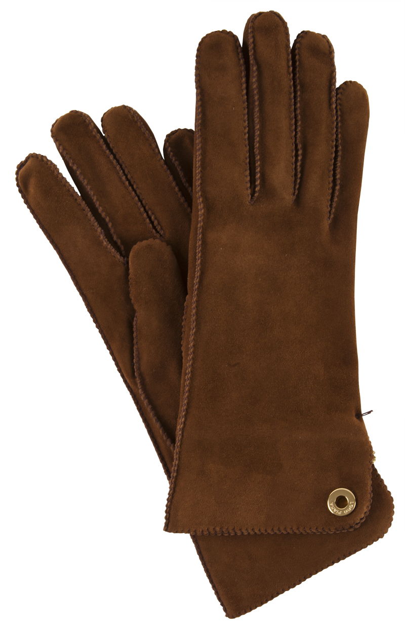 "Loro Piana goat skin gloves in ""chestnut"", $650 at Gwynn's of Mount Pleasant"