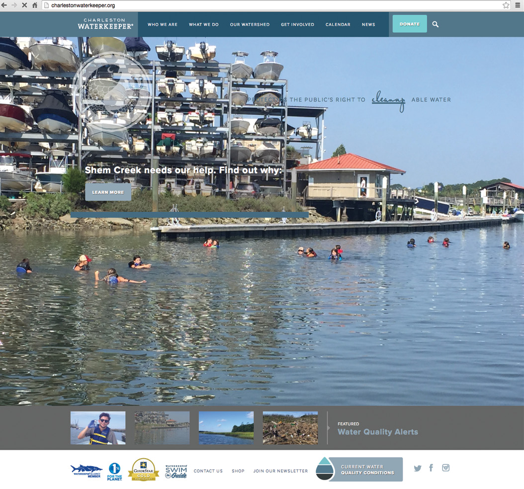 """Check the """"swimmability"""" of 15 local sites at charlestonwaterkeeper.org (above), download the Swim Guide app: theswimguide.org/get-the-app/, or get involved with its community cleanup efforts."""
