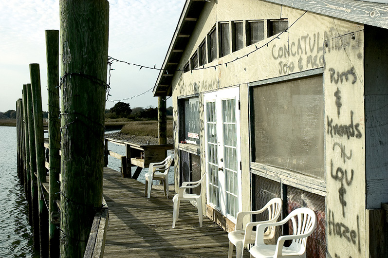 The James Island oyster shack, circa 2006; photograph by Jim Brueckner