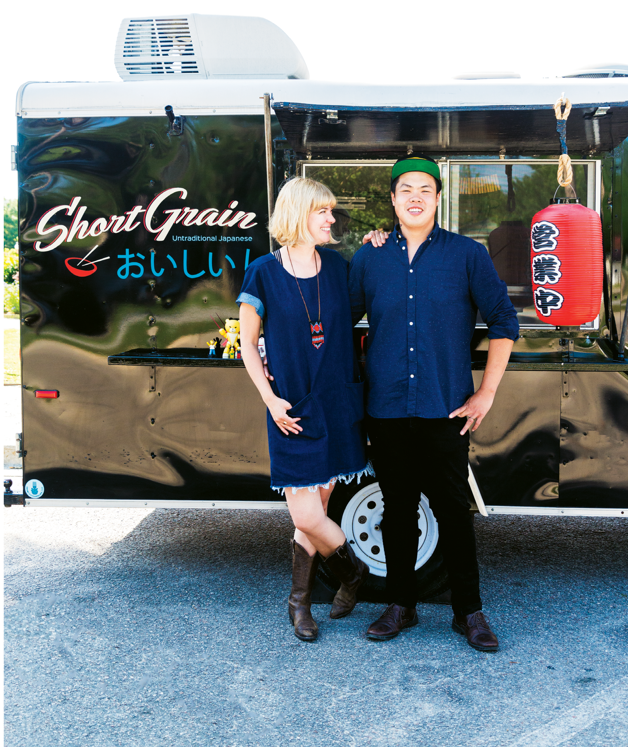 FOOD TRUCK: Short Grain; Shuai Wang partners up with his wife, Corrie, on their mobile eatery.