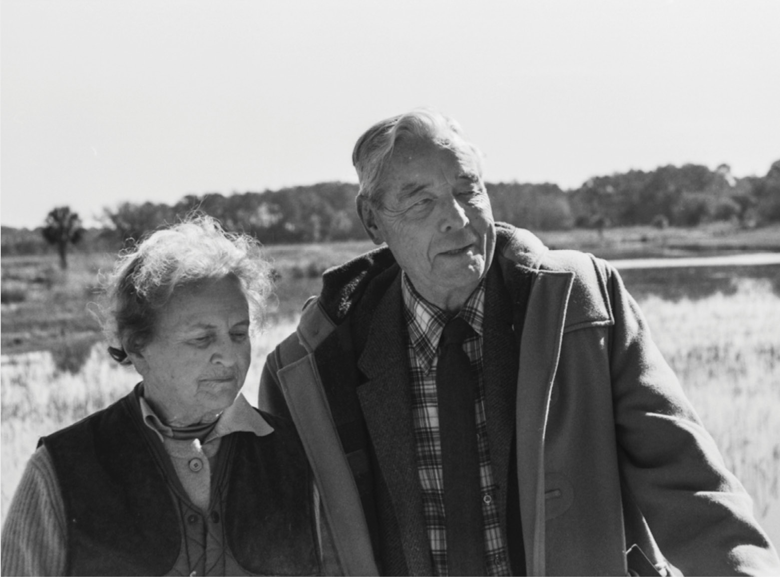 """Dorothy and Gaylord Donnelley, pictured here at their Ashepoo retreat, were avid hunters and dedicated conservationists. """"They lived out their civic ethics at Ashepoo,"""" says their granddaughter Ceara. The Gaylord & Dorothy Foundation continues to support the arts and land conservation in the Lowcountry and Chicago, granting more than $8 million in funding annually."""