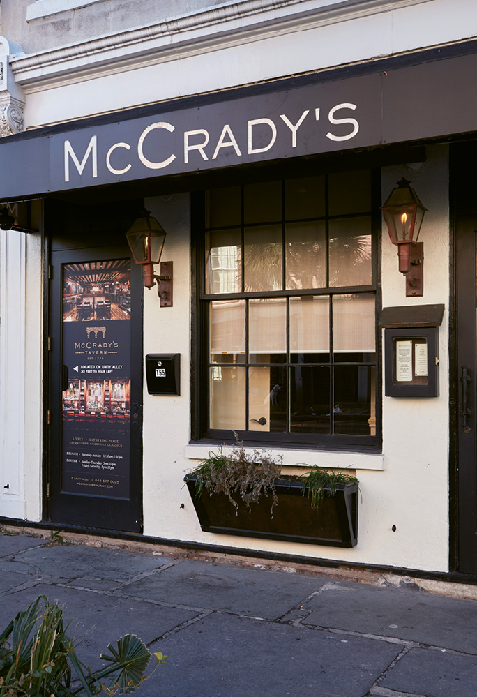 Each course at McCrady's—which sits on East Bay, though diners enter through Unity Alley—brings surprises.