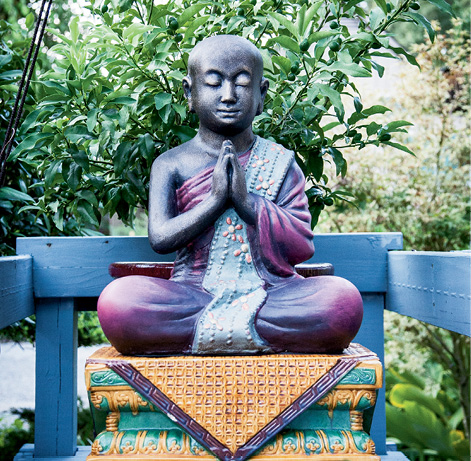 """The expression on the Buddha's face induces a relaxation response,"" says Austin O'Malley"