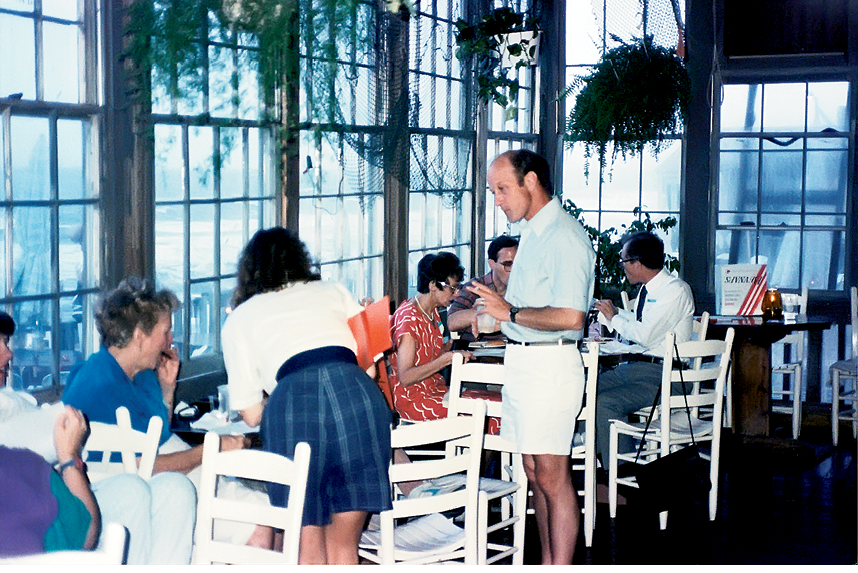 "Dining in the mid-1980s, before Hurricane Hugo claimed the ""Restaurant Above the Surf"" for the sea"