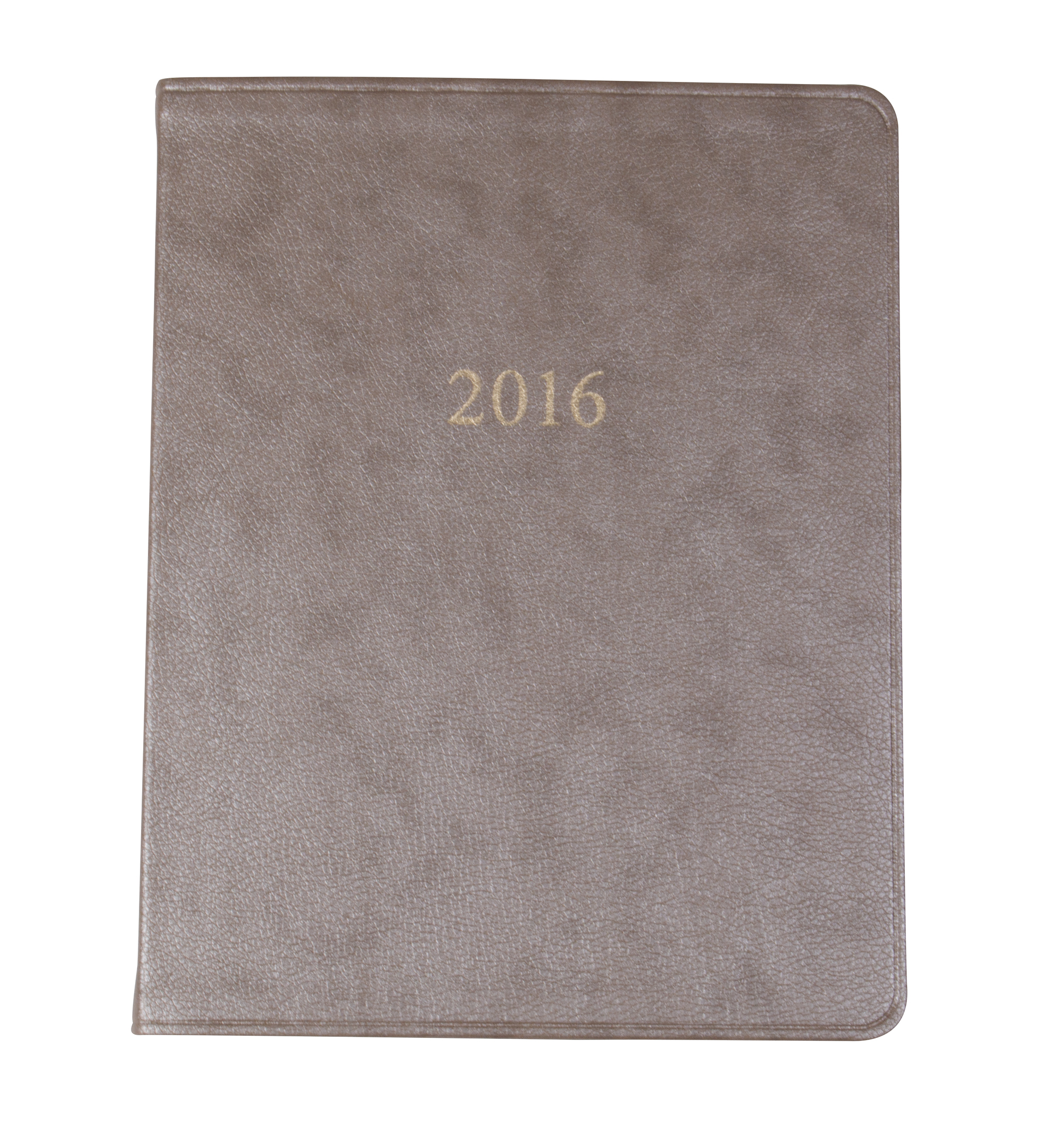 "Gallery Leather ""Key West Large Monthly Planner"" in ""Pearl Taupe,"" $20 at Barnes & Noble Towne Centre"