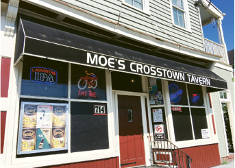 "Watering Hole:  ""I like the Belmont for cocktails, but if I want to get a beer with the guys, we usually head to Moe's Crosstown."""