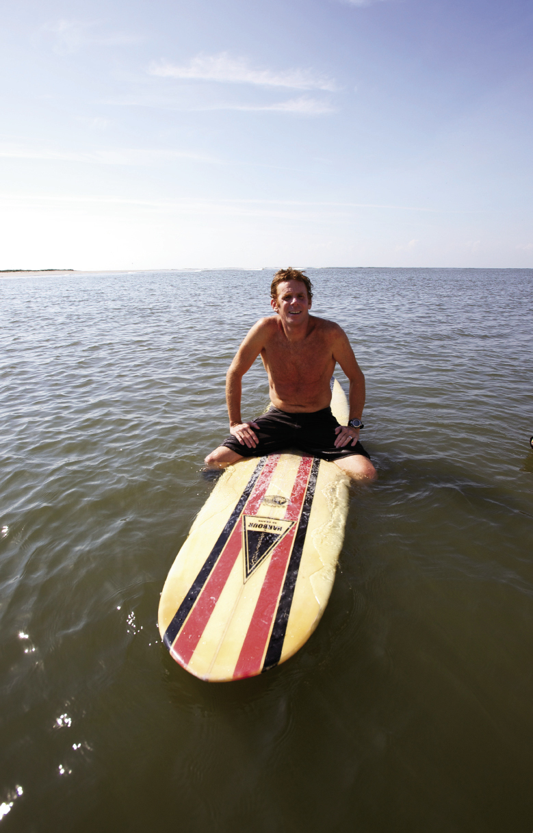 "SECRET SPOT: Author Chris Dixon sits off the lineup at one of our state's remotest surf spots. ""I can't reveal where this one is though,"" he says. ""My buddies would never forgive me."""