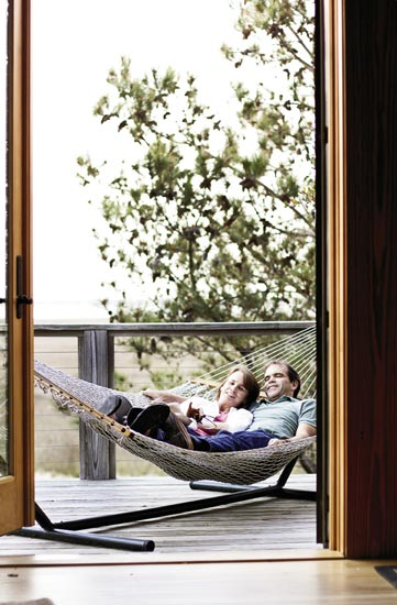 Of course, you can also ditch the carts and all cares and simply park in a hammock, savoring the serene marsh vistas.