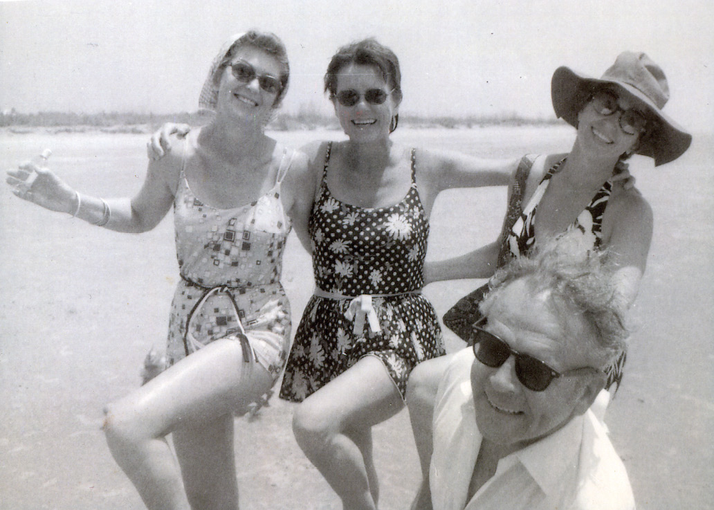 Ilderton (at far right) with Gloria Rochelle, Mary Montgomery, and Carey Ilderton