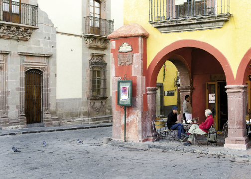 Enjoying a café con leche is a quiet break from the hustle and bustle of the square.