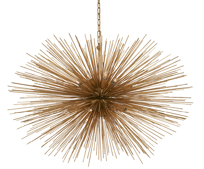 """Strada"" pendant light, large oval in ""gild"" by Kelly Wearstler, $2,520 at Circa Lighting"