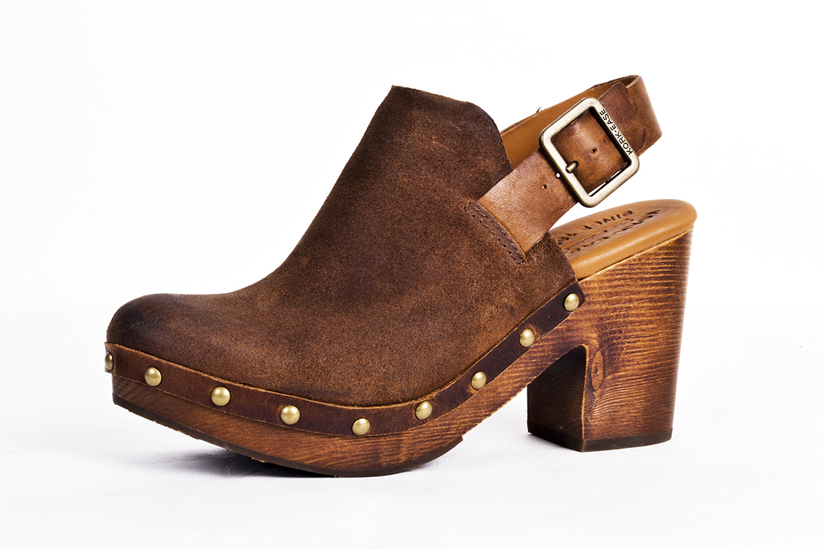 "Kork-Ease ""Rosalind"" leather clog, $190 at Copper Penny Shooz"