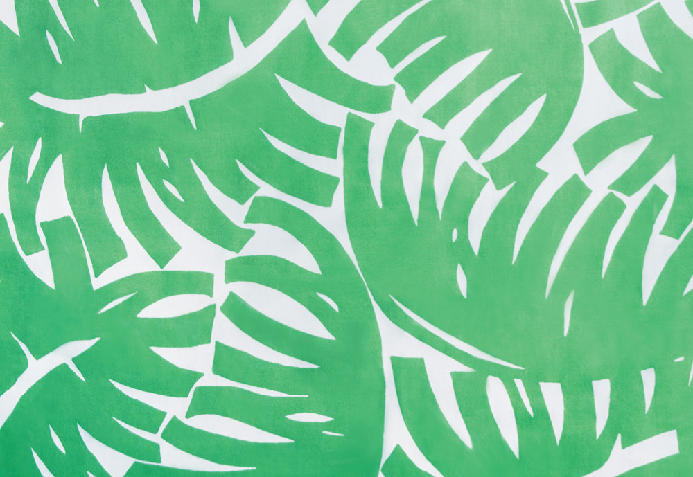 """Fronds"" cotton fabric by Bahama Hand Prints, $30 per yard at Eclectic"