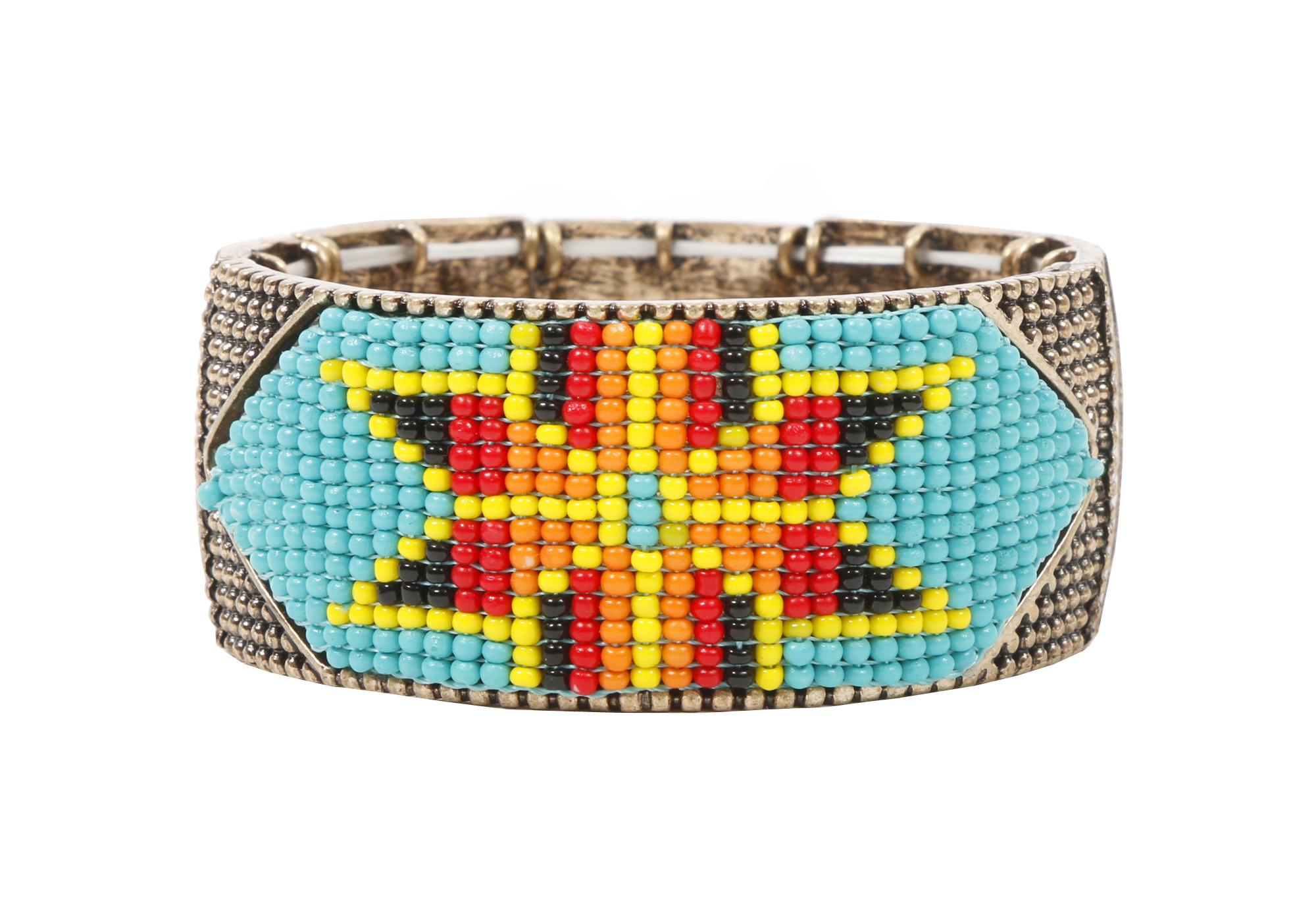 Sangria 5x wrap bracelet with Swarovski crystals