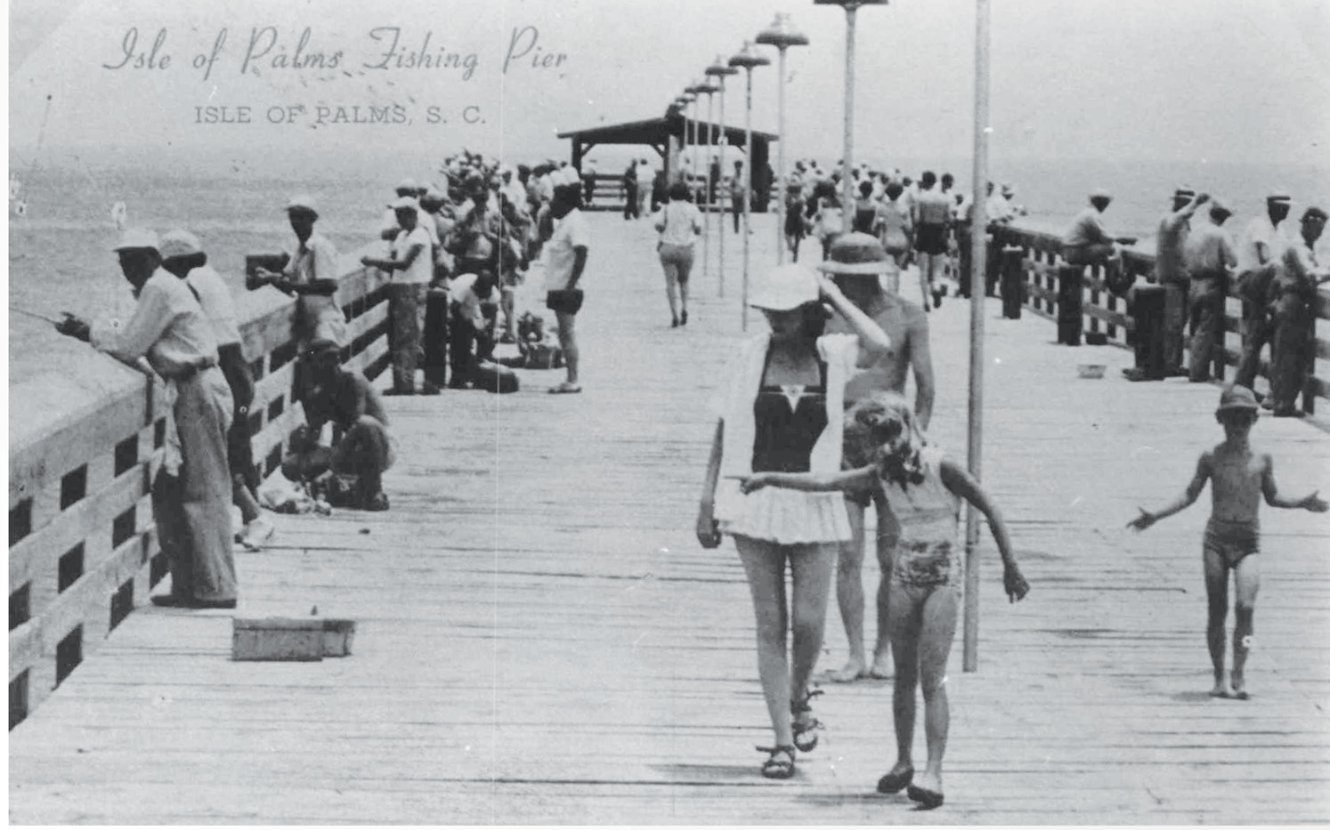 The fishing pier, circa 1940