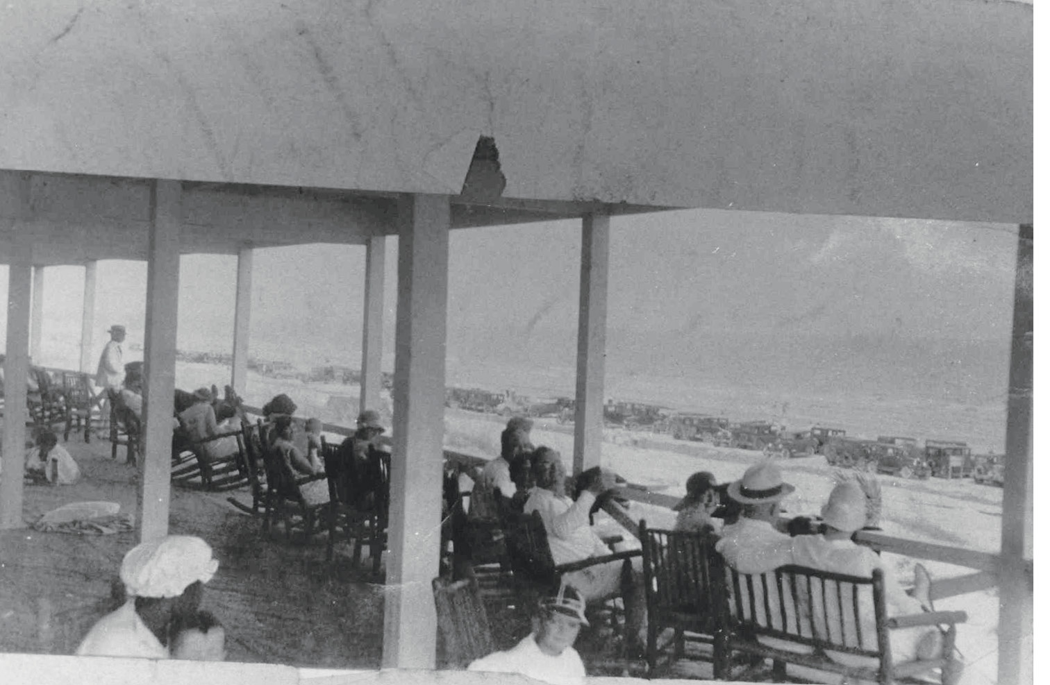 Kicking back at the Pavilion, circa 1930