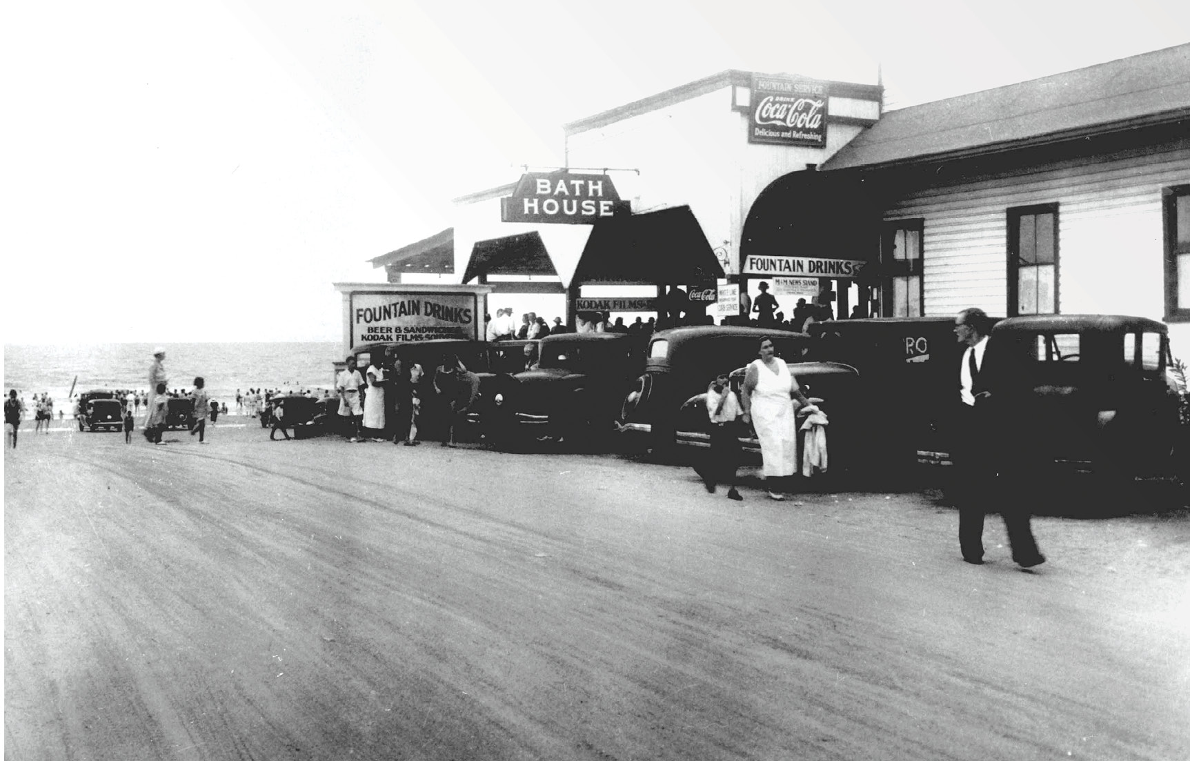 "Even in the 1930s, the end of Center Street at Folly epitomized fun in the sun, a carefree place dubbed the ""Edge of America."""