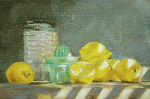 """Making Lemonade, 2008, 11"""" x 14"""", oil on linen"""