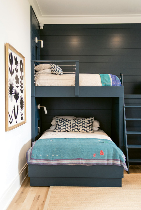 The bunk nook make for easy cleanup.