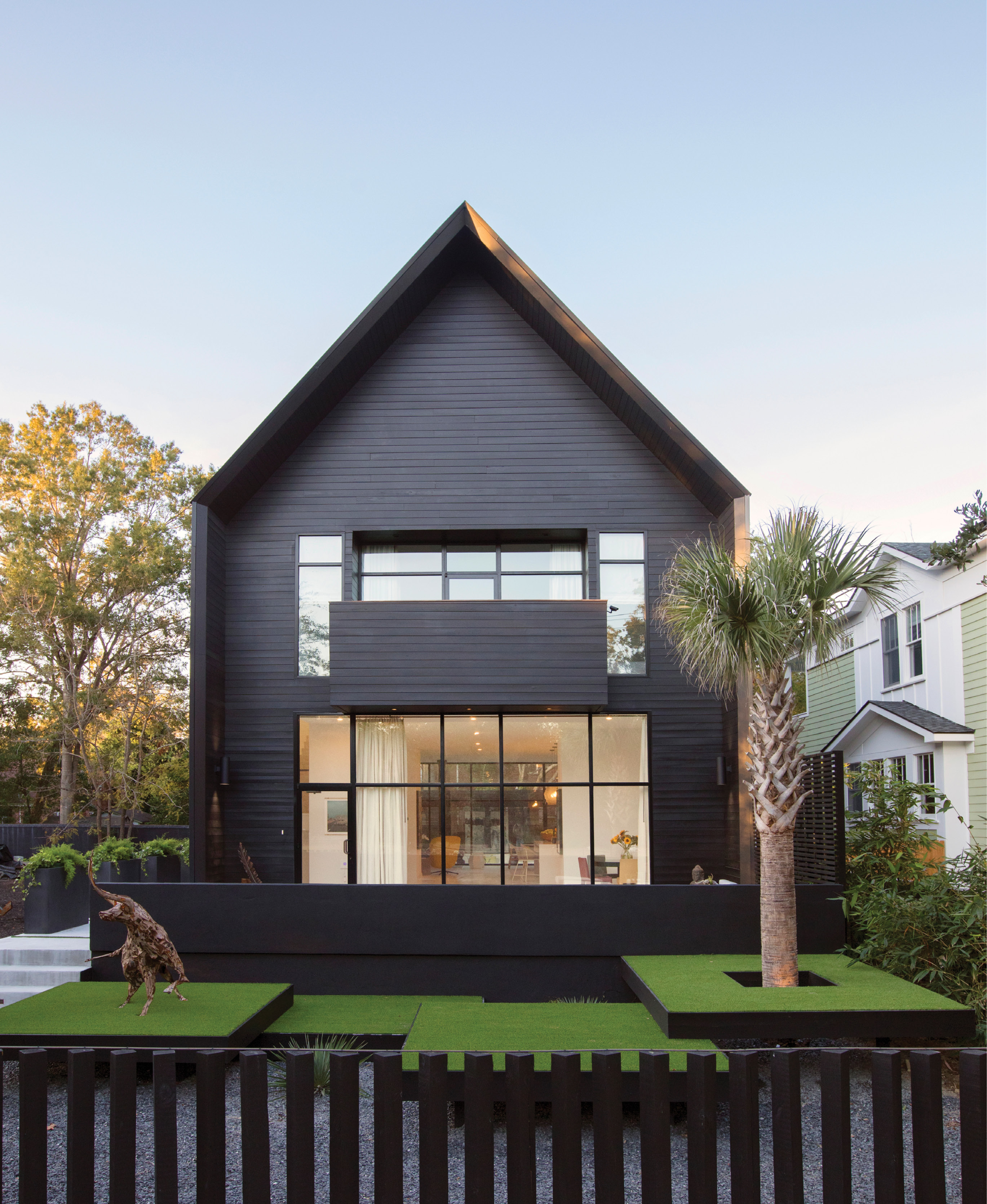 The Black House cuts a striking silhouette near Hampton Park.