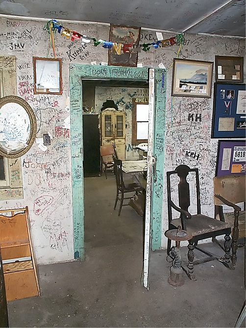 Thousands of regulars left their mark on the old building's interior; photograph by Cramer Gallimore