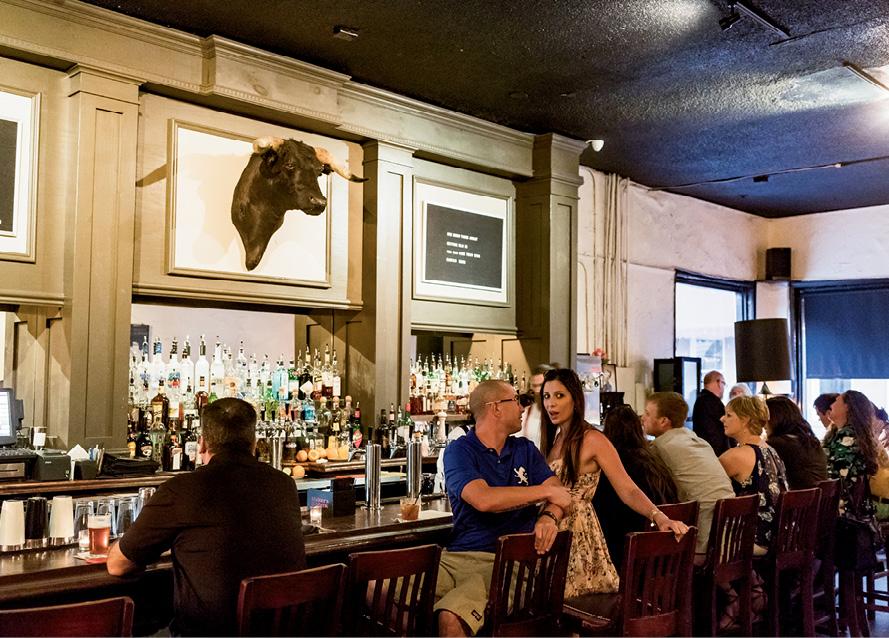 Inside the Old Bull Tavern on West Street