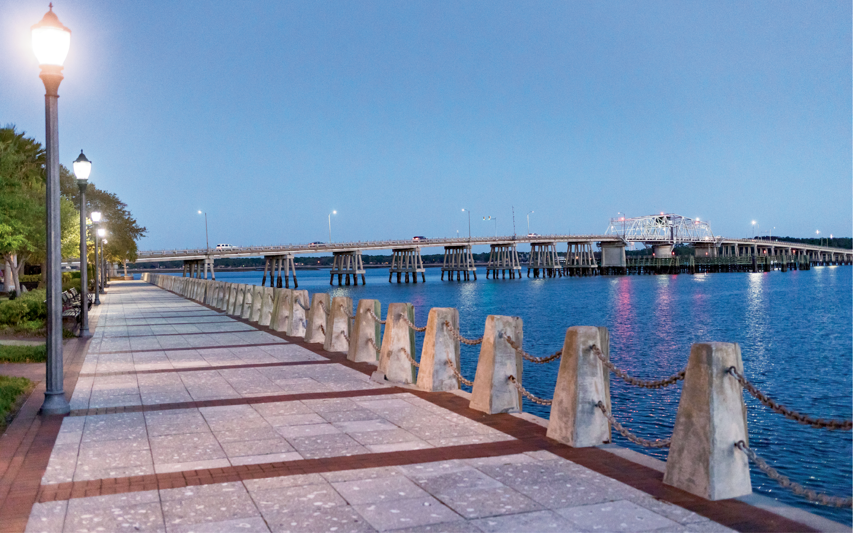 Public Spaces, Protected Views: The promenade at the Henry C. Chambers Waterfront Park, downtown on the Beaufort River