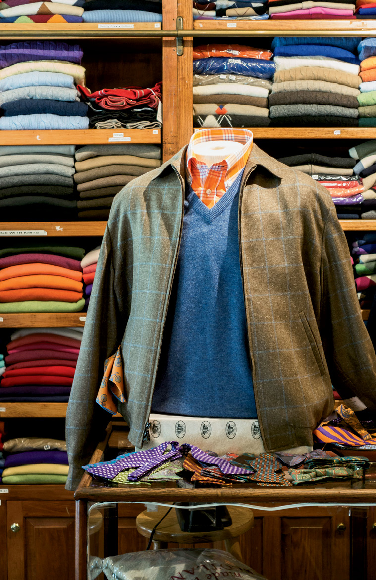 A trove of sweaters at McCulley's Scottish Cashmere