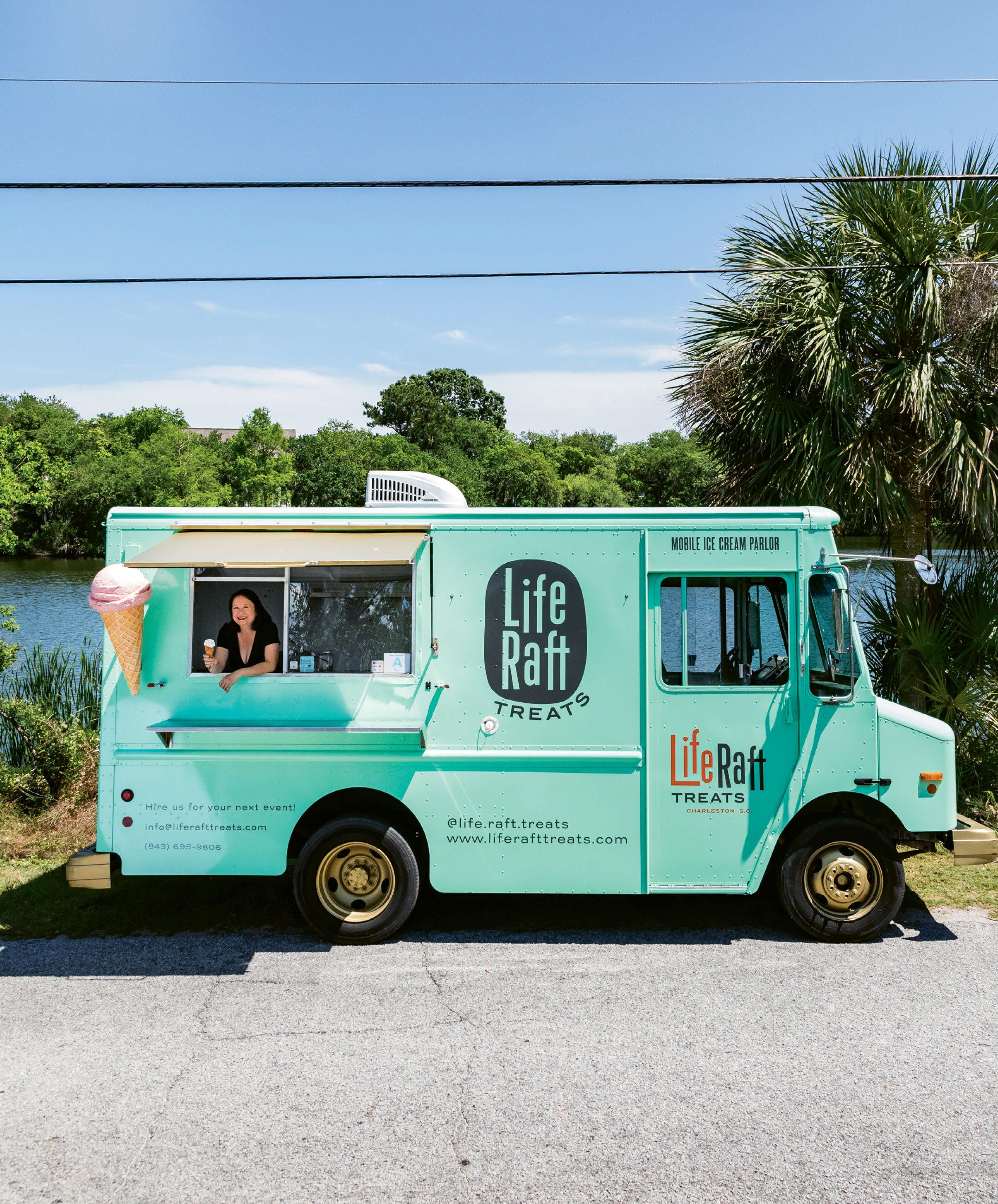 """The truck really sums up my story in food,"" says Cynthia Wong of her mobile ice cream parlor. ""It's practically the sixth member of the family—after Critter the dog, of course."""