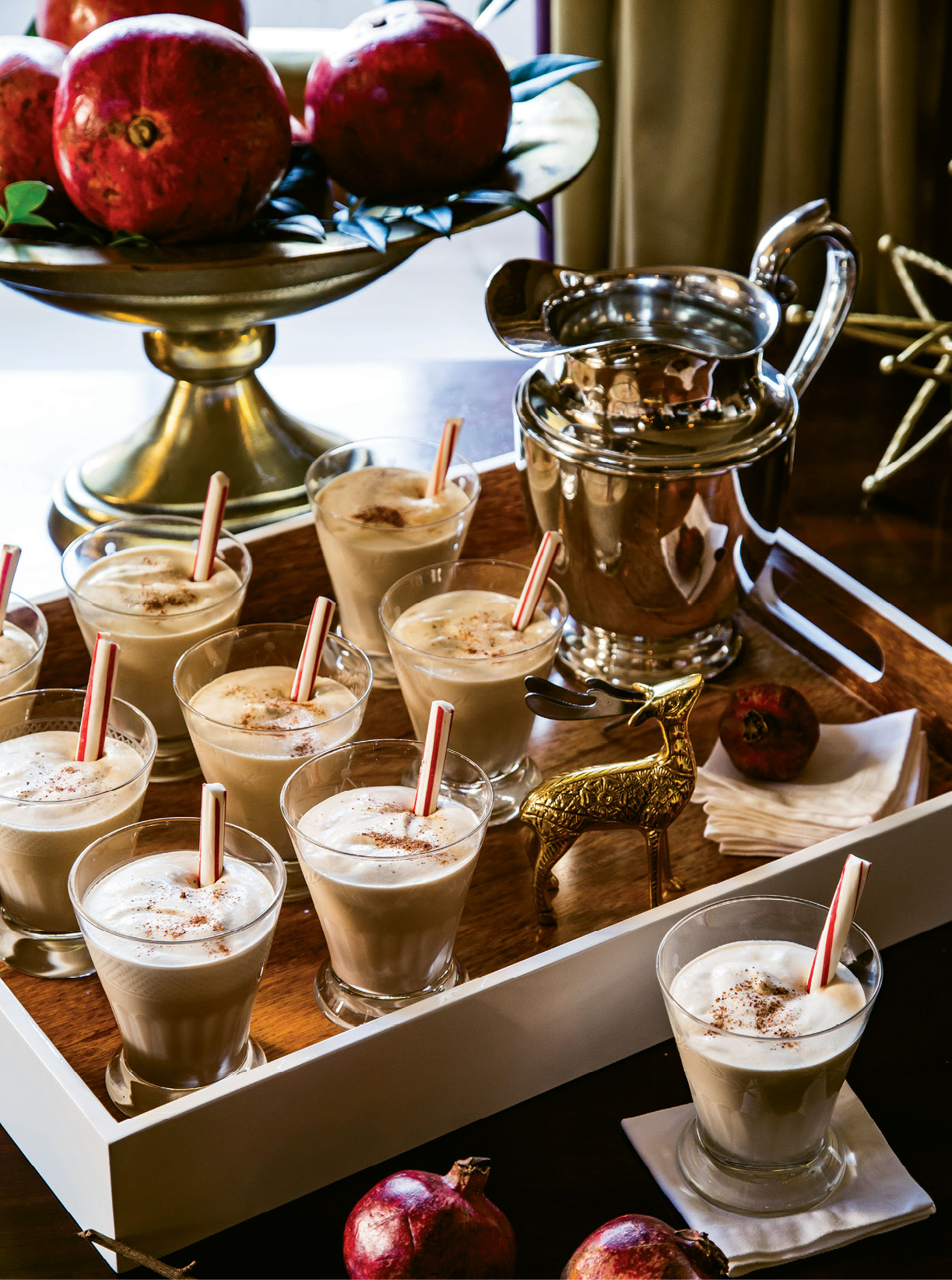 "QUINTESSENTIAL SIP: ""There's nothing better in the world than homemade eggnog,"" Tara says. ""It's not Christmas without it—dessert and bourbon in a cup!"""