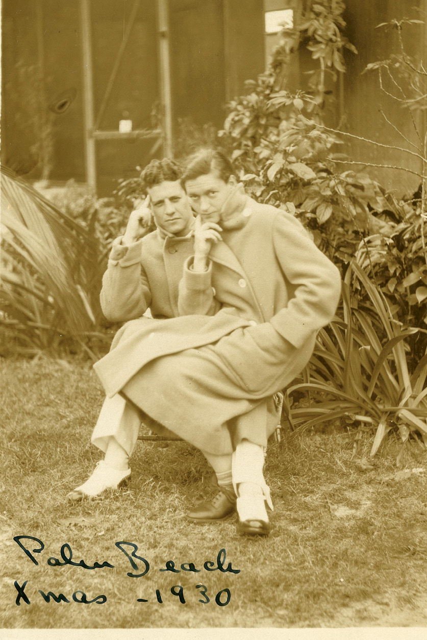 With Sidney in Palm Beach, 1930